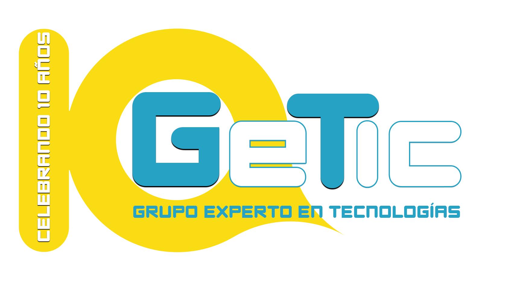 logotipo getic 10 años