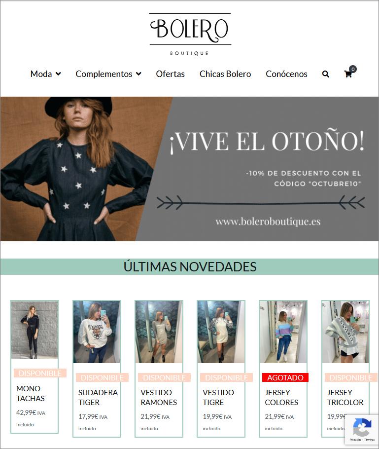 Web Bolero Boutique