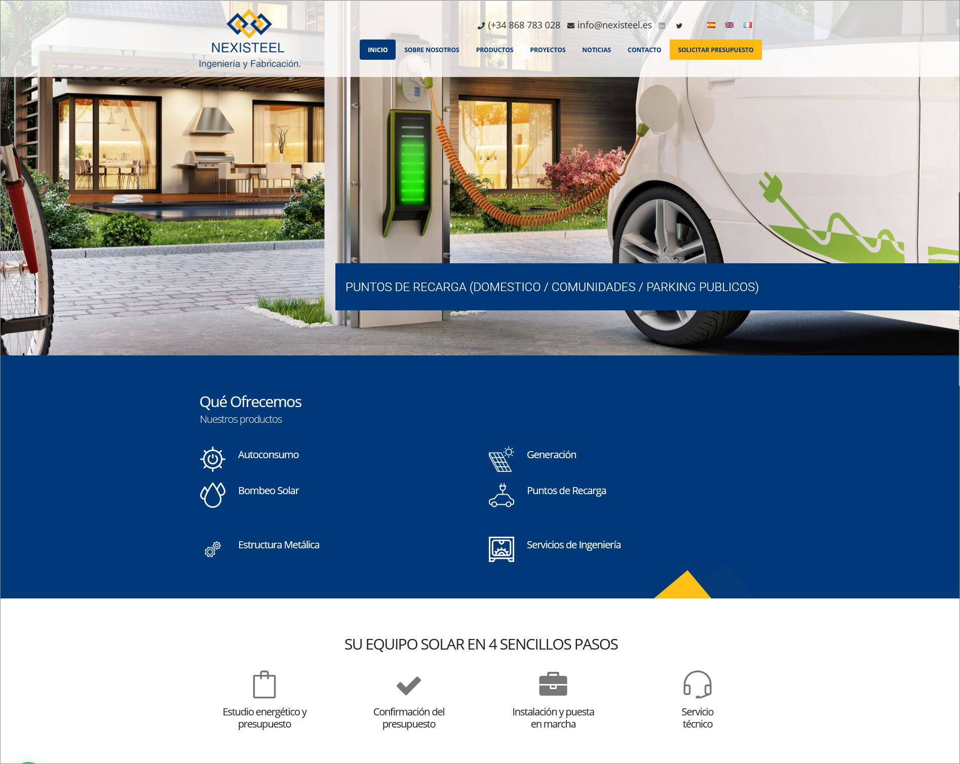 Captura pantalla web Nexisteel