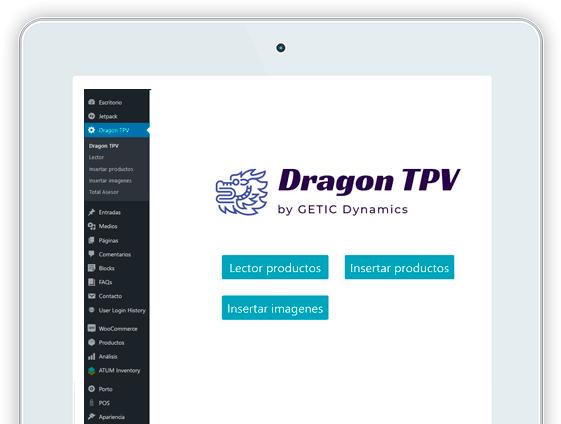 Captura web Dragon TPV tablet